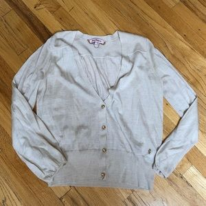 Juicy Couture Beige Cardigan Size XL